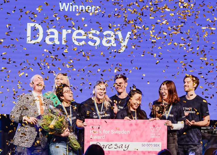 Daresay Team Winner Of Hack For Sweden 2019